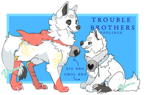 [Auction|closed] Trouble Brothers by Lusomnia
