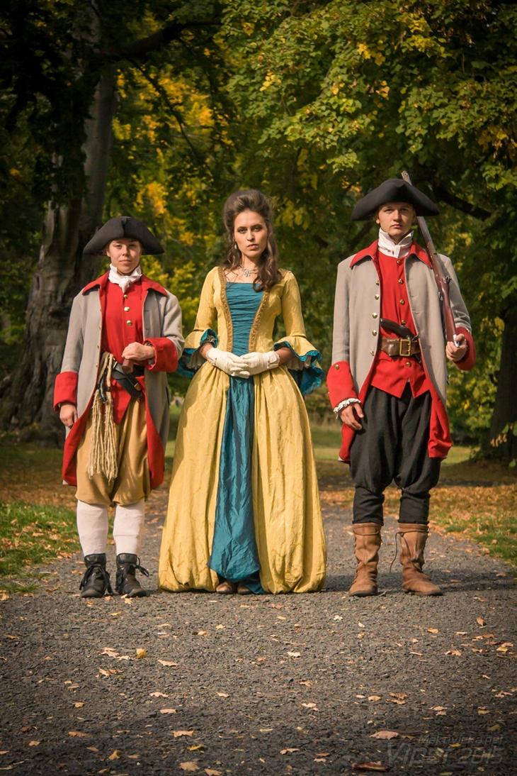 Countess and guards - De la Bete LARP by Krushak-Dagra