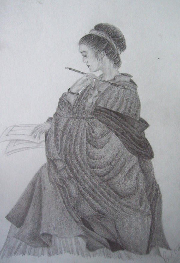 Lady with the brush
