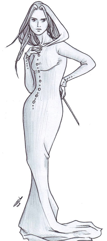 sketch : Madame Malfoy by nami64