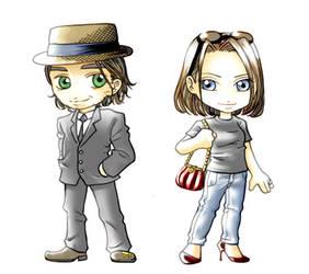 chibi Jackson and Ashley by nami64