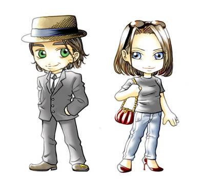 chibi Jackson and Ashley
