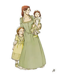 Martha with little Patsy and Polly by nami64
