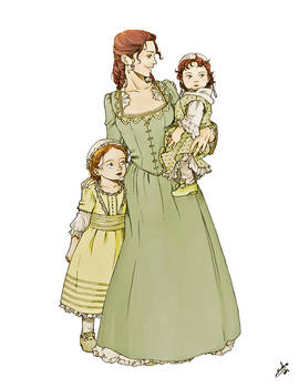 Martha with little Patsy and Polly