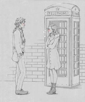 'here take my coat...' 'no no im fine'