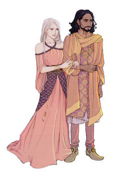 Maron and Daenerys Martell by nami64