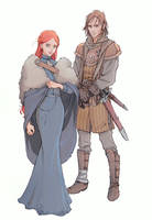Sansa and Theon by nami64