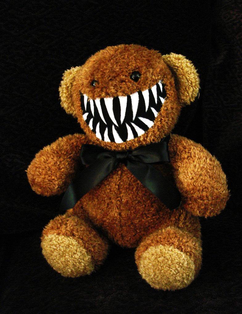 brown teddy bear monster 2 by rebeccastefun on deviantart