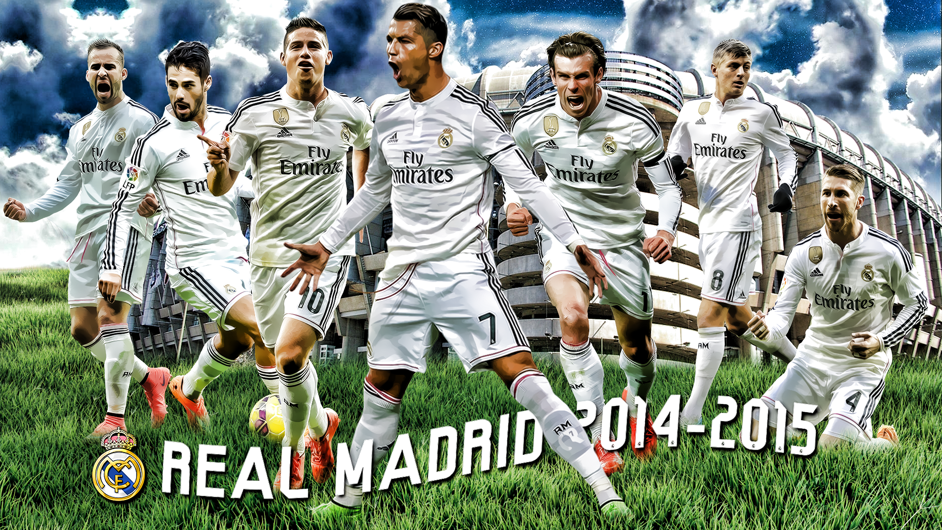 A6fefa8a588 Real Madrid 2014 2015 Squad Wallpaper Football