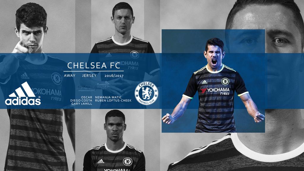 Chelsea Away Kit 2016-2017 Wallpaper by szwejzi on DeviantArt
