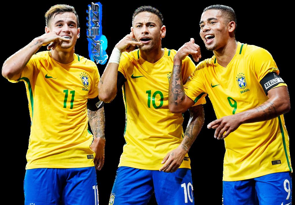 Philippe Coutinho, Neymar Gabriel Jesus By Szwejzi On