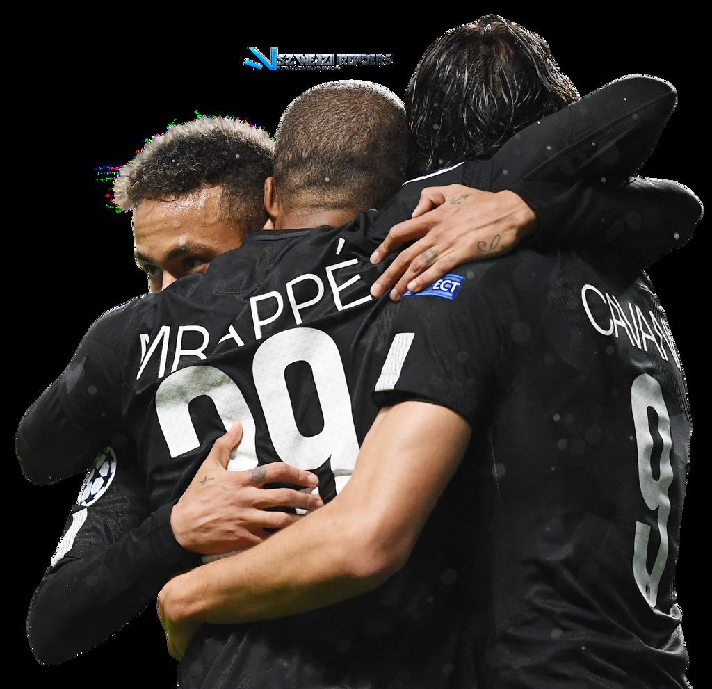 Neymar, Kylian Mbappe Edinson Cavani By Szwejzi On DeviantArt