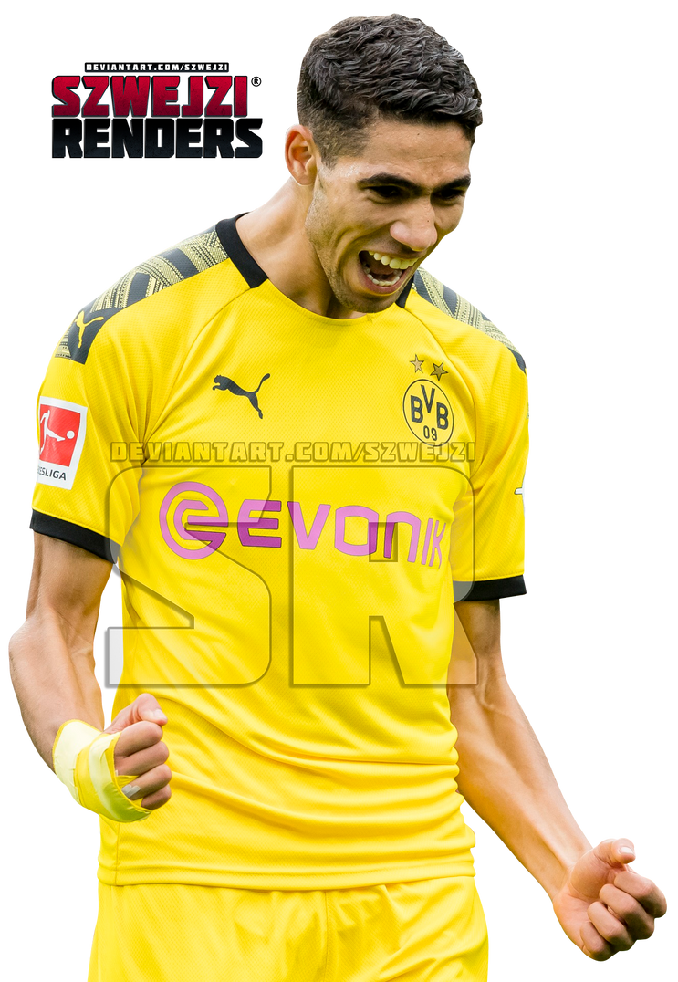 Achraf Hakimi Borussia Dortmund By Szwejzi On Deviantart