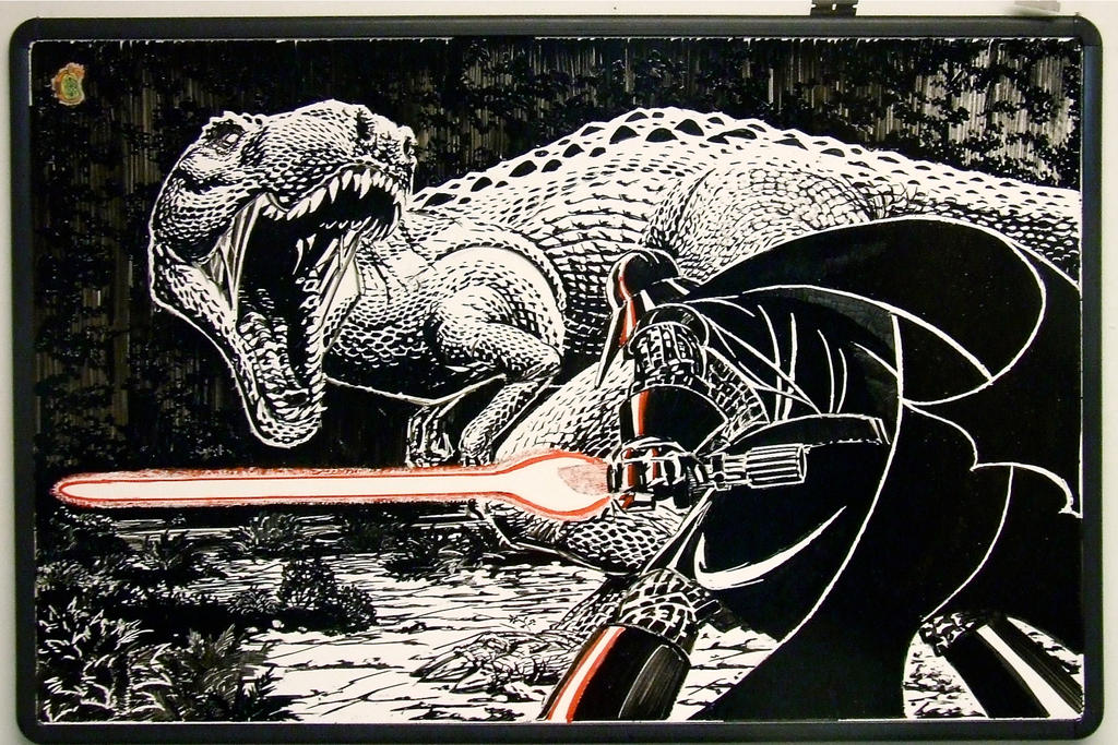 Vader vs. Tyrannosaur by Cheape