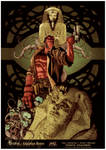 Hellboy - Egyptian Ruins Coloring