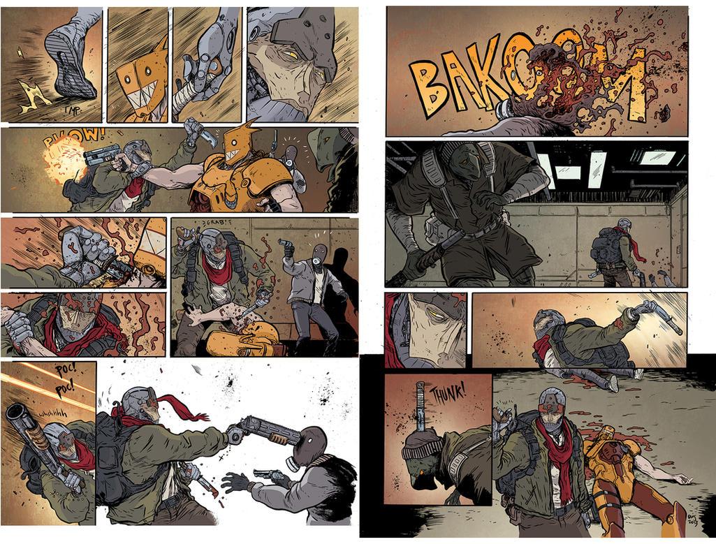 PROPHET #43 PIECES pg 2-3 (IMAGE COMICS) by DougGarbark