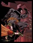 Dark Knight color warm up by Doug Garbark