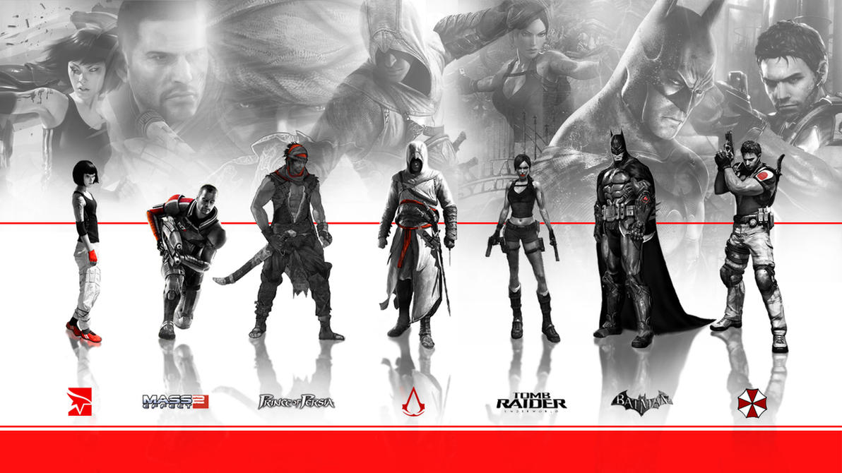Video Game Character Collage Wallpaper Game characters...