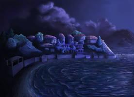 Nessebar at night by XDimov