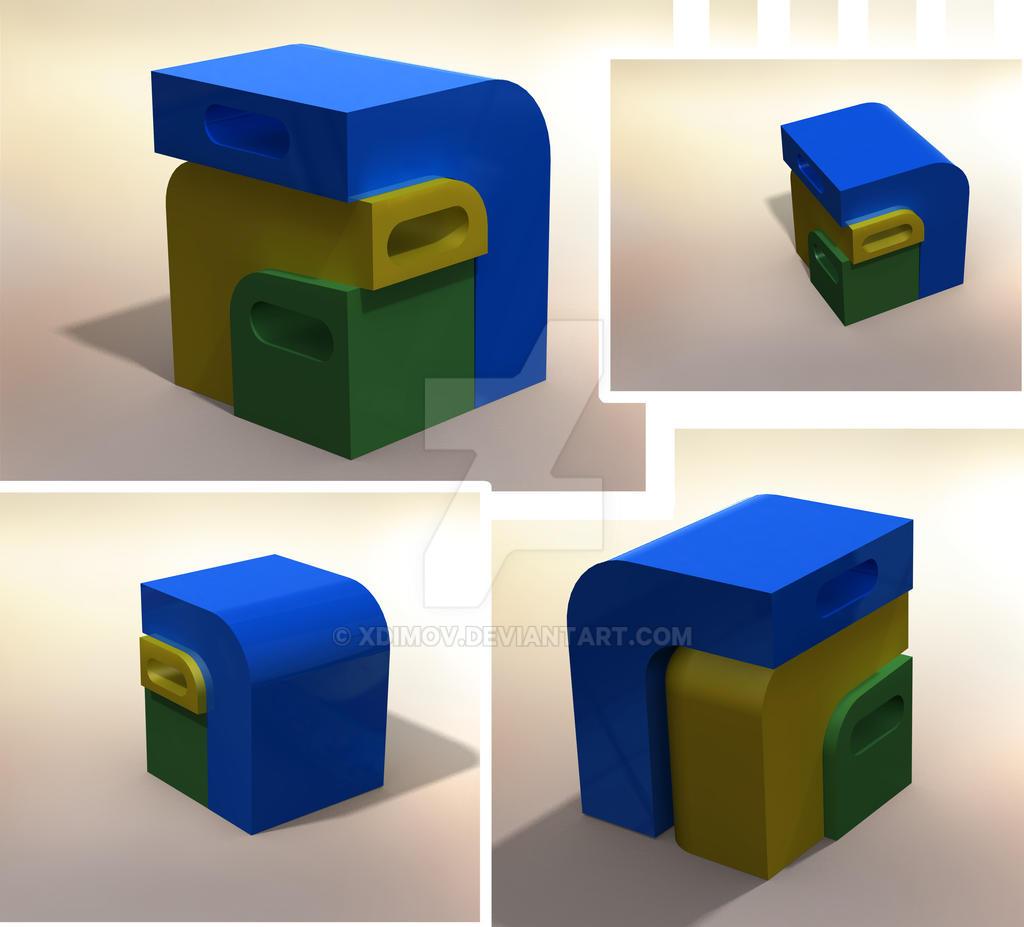recycle bin design by xdimov on deviantart. Black Bedroom Furniture Sets. Home Design Ideas