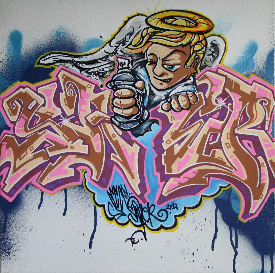 Graffiti Angel by ecce,one