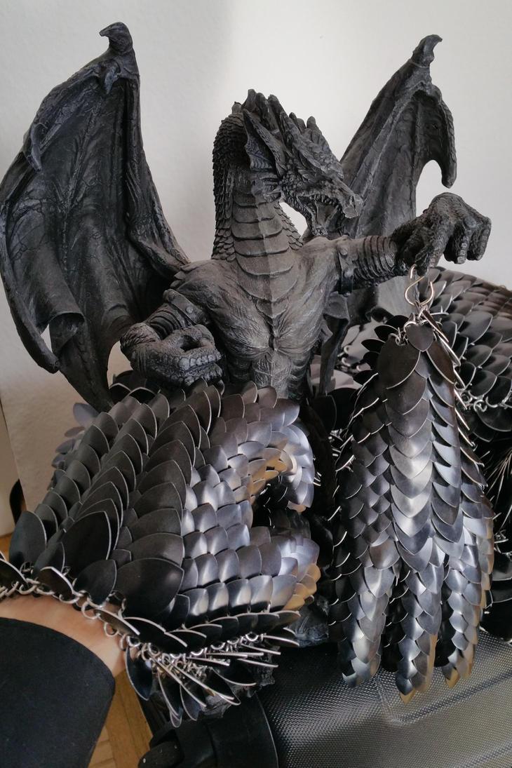 WIP dragonscale gloves by BlackMetalDragon