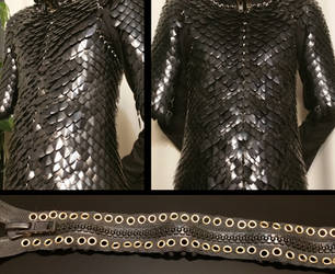 WIP MK2 Dragonscale armor / costume front / diag by BlackMetalDragon