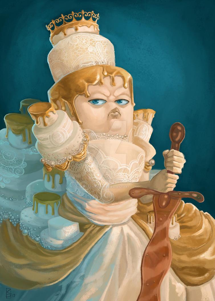 Queen Wedding Cake by KristenPauline