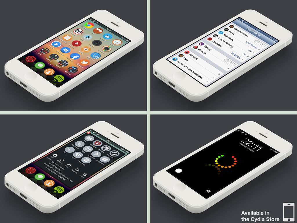 Wazi iPhone theme