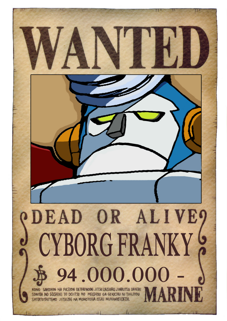 Franky - wanted by arcangelxd16 on DeviantArt