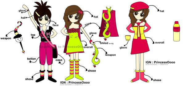 Cloths set by PrincessOftheArt