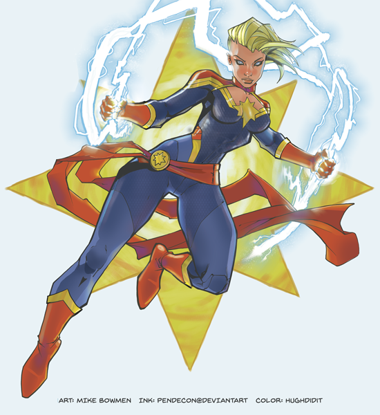 Captain Marvel by hughdidit