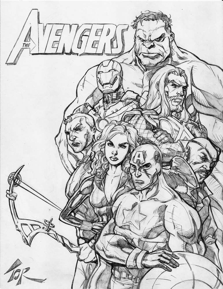 Avengers Simple Sketch | Www.imgkid.com - The Image Kid Has It!