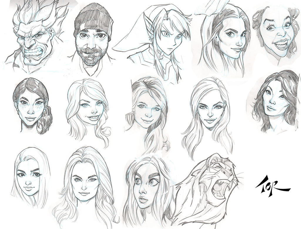 Facesketches1 by torsor