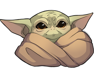 The Cute Is Strong With This One: BabyYoda Sticker