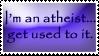 Atheist stamp by opheliareturns