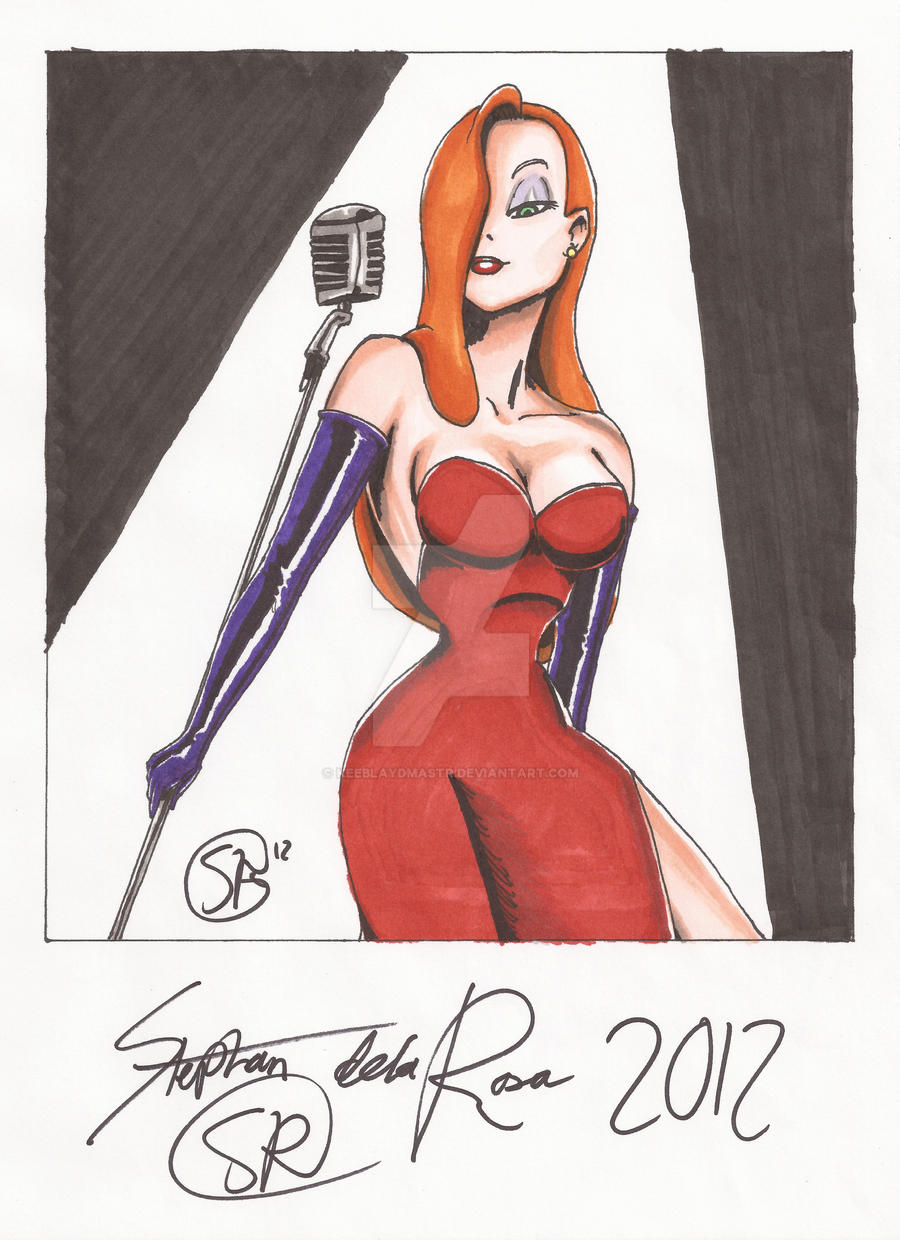 Commission: Jessica Rabbit, Final by KeeBlaydMastr