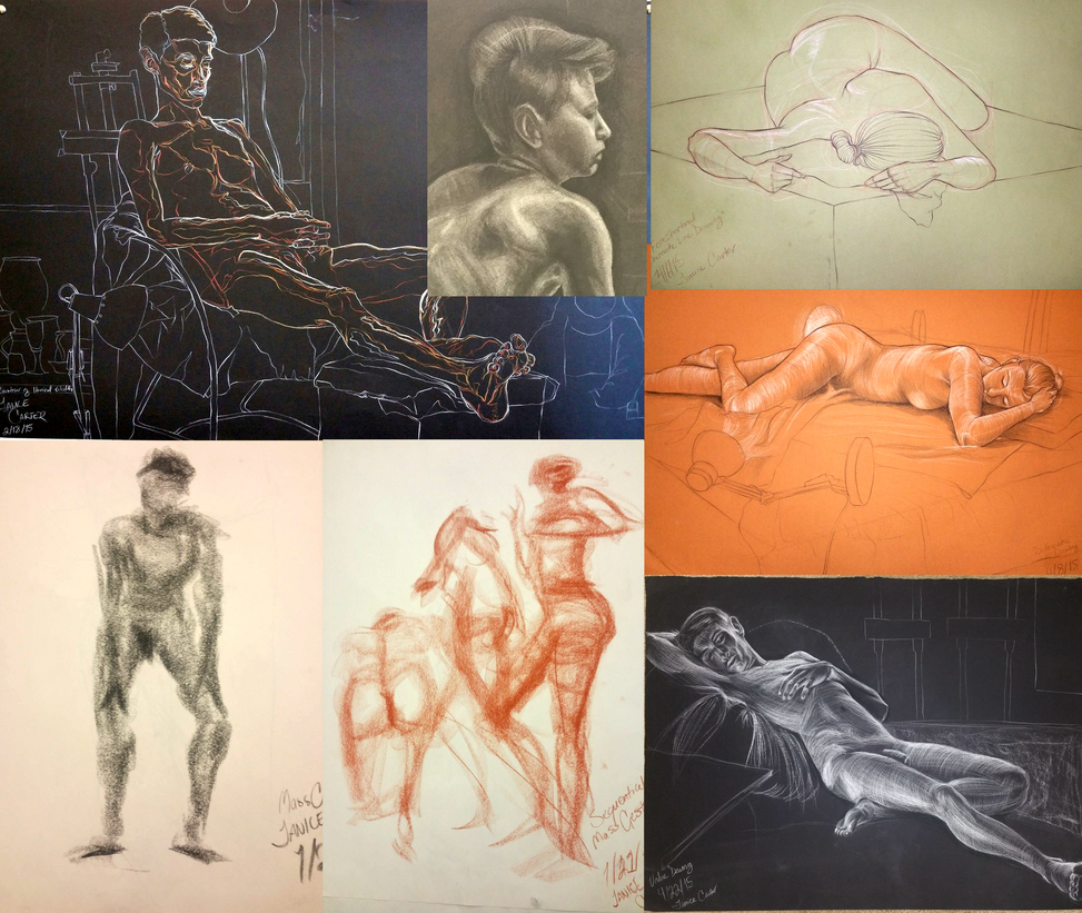Figure Drawing - Spring 2015 by LibraStone