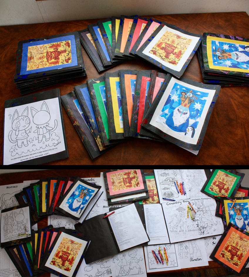 Colouring Books for Charity! by TommyGK
