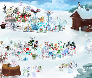 Pokemon Snowmon for Charity 138 by TommyGK