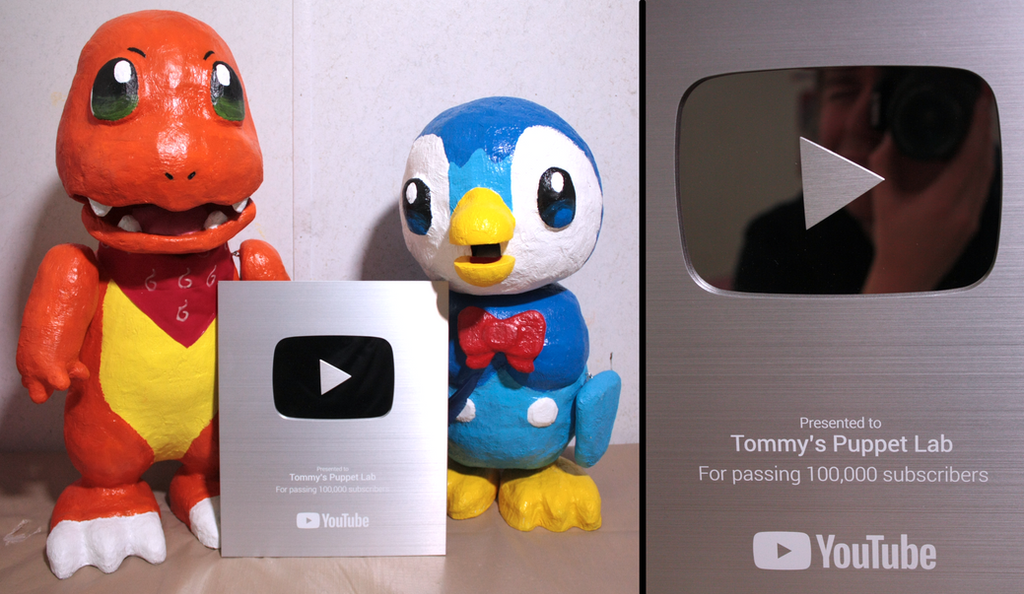 YouTube Silver Play Button Award! (100,000 subs) by TommyGK