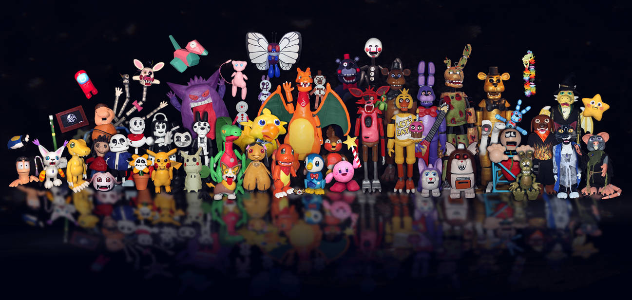 My Puppet Family (all hand crafted)