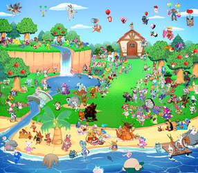 Animalmon Crossing Charity Village 176 by TommyGK