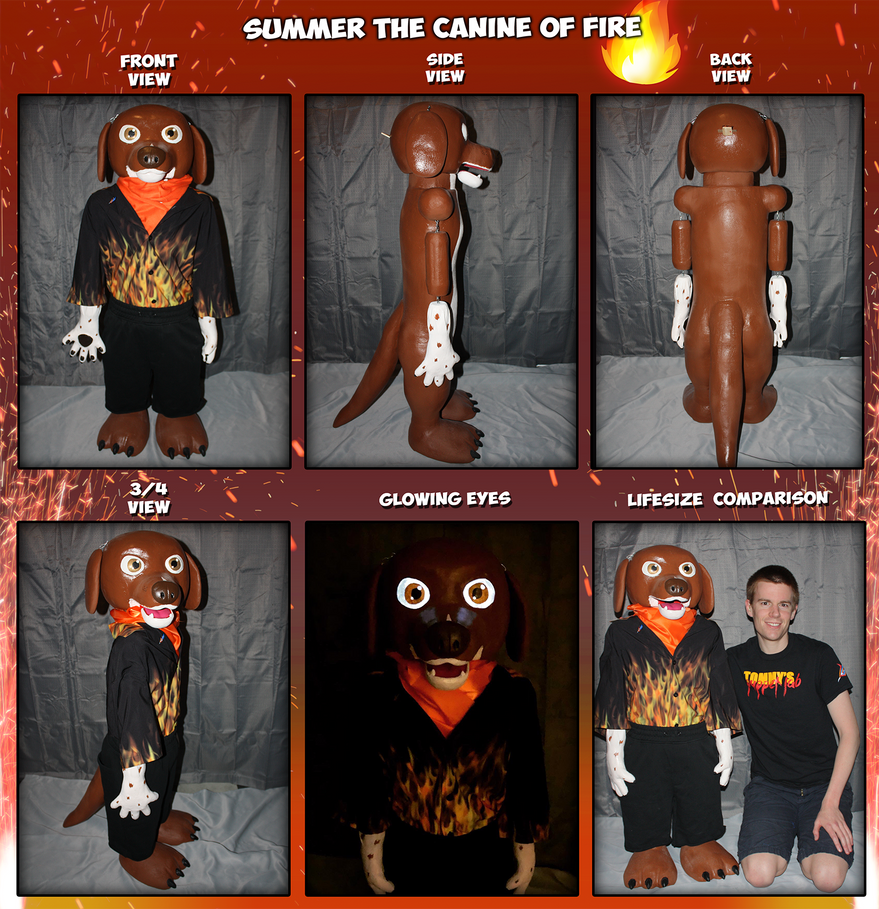 Summer the Canine of Fire Puppet