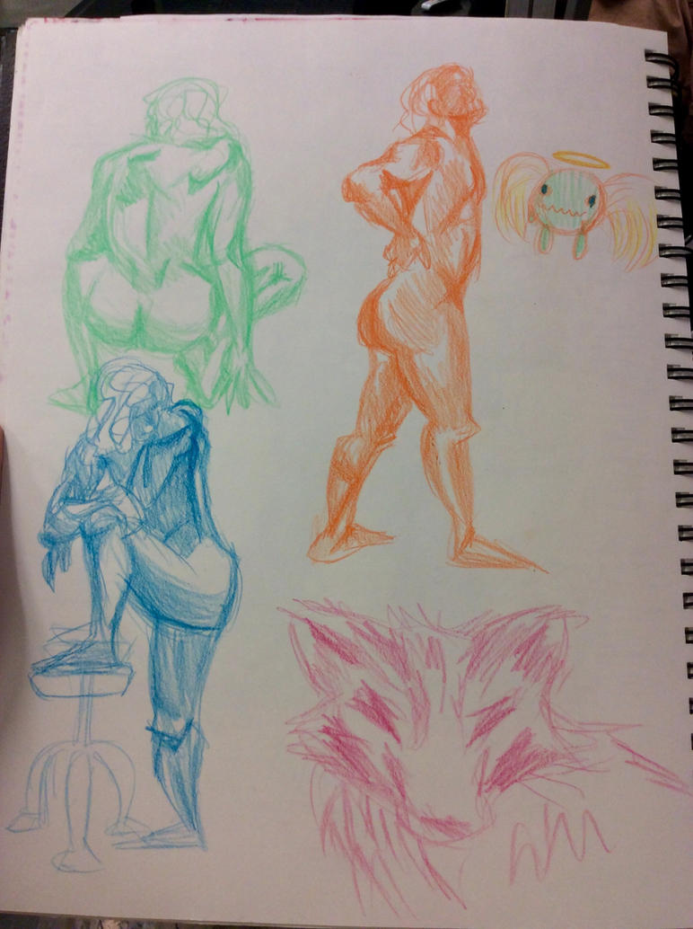 Figure Sketches 2/25/15 by Jen-the-Cat-desu