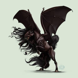Thestral - Sombral by Lunewen