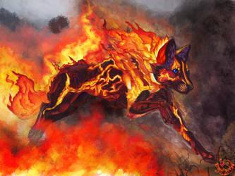 Illustration II Fire spirit Thymeria by Lunewen