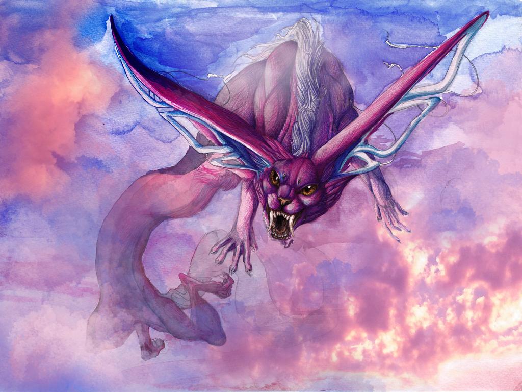 Illustration VI Wind Spirit Lobellon By Lunewen On DeviantArt - Wind spirit