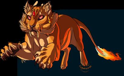 Fire tiger by Lunewen