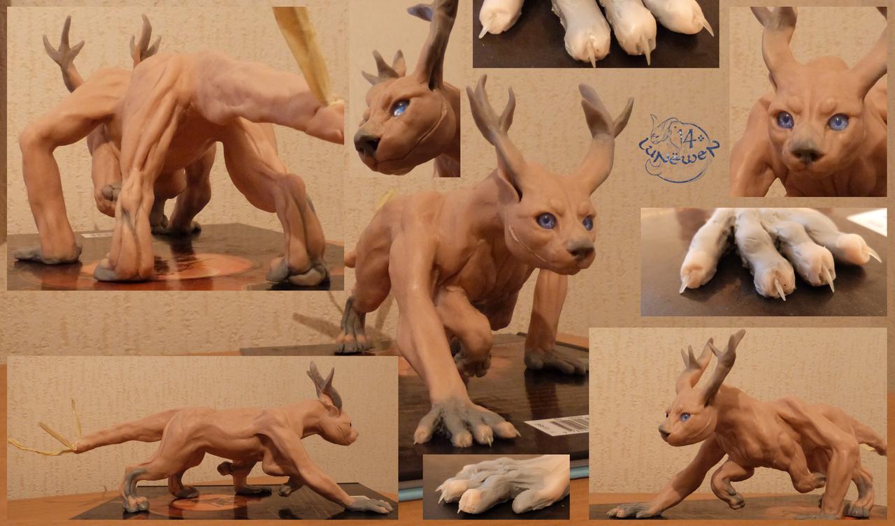 Manelga - sculpture in progress by Lunewen